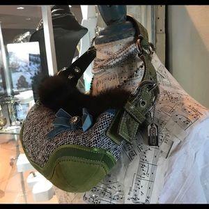 COACH Rare Limited Edition Python & Mink Bag